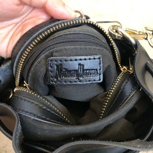 Neiman Marcus Bags - Neiman Marcus Black Leather Drawstring Bucket Bag